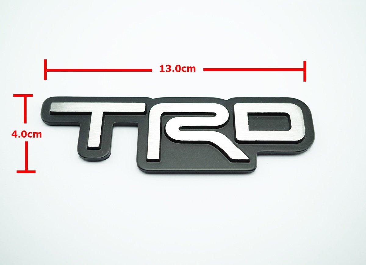 TRD Black Metal Logo Emblem size 13.0x4.0cm Install with 3M