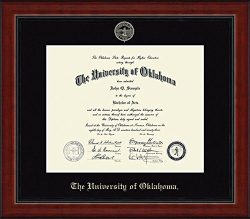 Oklahoma Sooners Diploma Frame - Black by Elite Fan Shop
