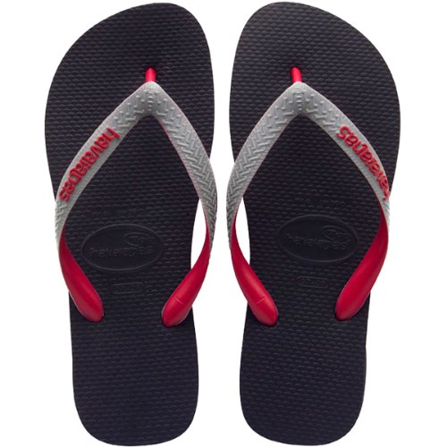 Havaianas Top Mix-Kids Flip Flop (Toddler/Little Kid),Black/Grey,23-24 BR (8 M US Toddler) (Marketplace Shoe Tree)