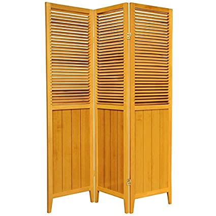 Amazoncom Oriental Furniture 6 Feet Tall Beadboard Room Divider 3