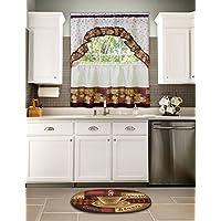 Achim Home Furnishings Braided Rug, 20-Inch 30-Inch, Coffee