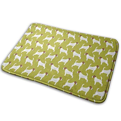 (GFUYF54GFR Non-Slip Doormat Jack Russell Terrier Door Mat Rug Home Decor Bathroom Mats/Kitchen Rugs)