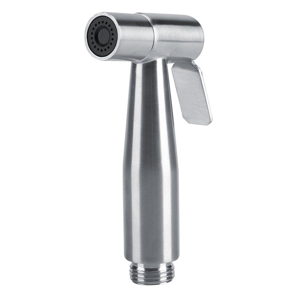 Keenso Handheld Bidet Toilet Sprayer Set, Adjustable Toilet Bidet Water Cleaner Wall Holder Kit with T-Adapter, Bathroom Shower for Self Cleaning