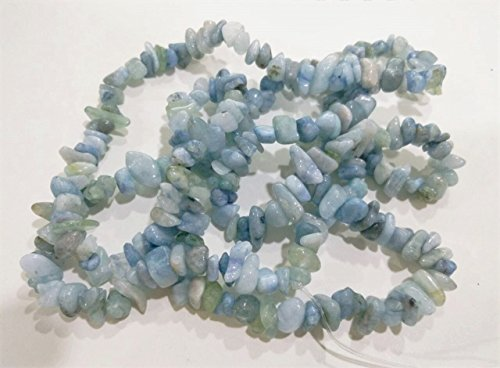 - jennysun2010 Natural Gemstone 4-8mm Chip Beads 32'' - 35'' Aquamarine Hematite Turquoise Malachite Coral 1 Strand for Bracelet Necklace Earrings Jewelry Making Crafts Design Healing