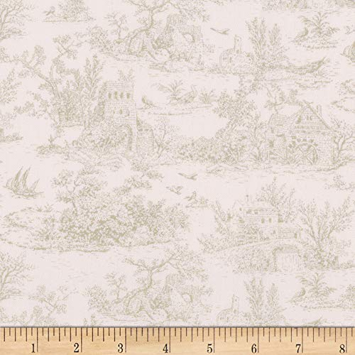 Kaufman Meredith Toile Ivory Fabric by the Yard