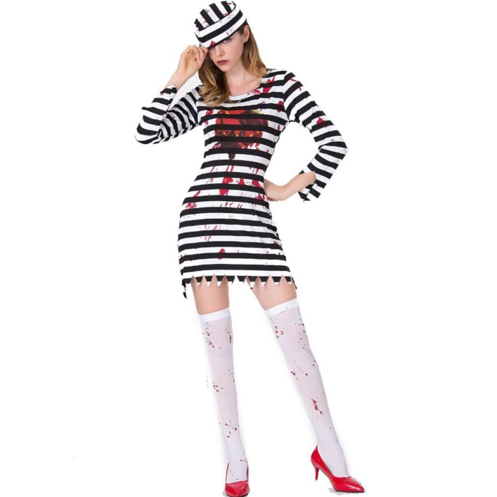 TUWEN Halloween Traje Fantasma Festival Horror Sangriento ...