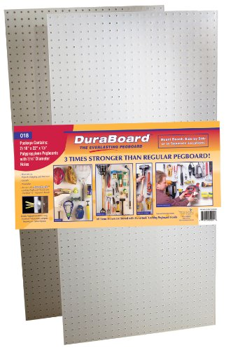 Triton Products(2) 22 In. W x 18 In. H x 1/8 In. D White Polypropylene Pegboards with 3/16 In. Hole (Acrylic Pegboard)