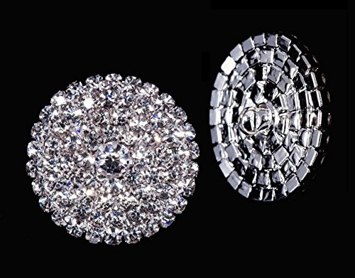 Round Pave Button with Stone Center - Large - #7101