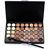 neutral color palette Professional Eye Shadow Palette Shimmer and Neutral Ultimate Makeup Beauty Kit Set, Cosmetic Eye Shadow, Halloween Makeup Palette Matte (40 Colors)