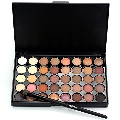 Professional Eye Shadow Palette Shimmer and Neutral Ultimate Makeup Beauty Kit Set, Cosmetic Eye Shadow, Halloween Makeup Palette Matte (40 Colors)