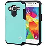 Core Prime Case, MP-Mall [Dual Layer] [Shockproof] Armor Hybrid Defender Anti-Drop Rugged Premium Protective Case Cover Fit For Samsung Galaxy Core Prime (Mint)