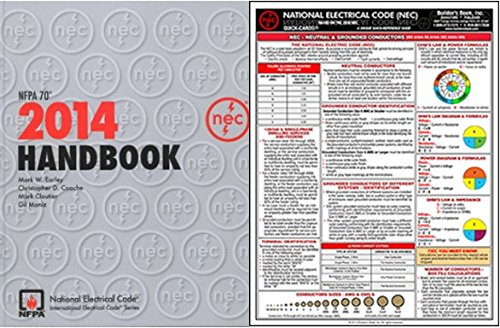 NFPA 70: National Electrical Code (NEC) Handbook (Hardcover) and QUICK-CARD: National Electrical Code (NEC) 2014 by NFPA-BB