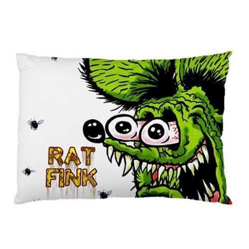 Price comparison product image Hot Sale Custom Rat Fink Zippered Pillow Case 20x30 (Twin Sides Print)