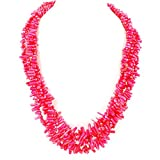 4 strands Pink Sea Coral Branch Huge Necklace 22-25'' Gift Ideas N17050416h