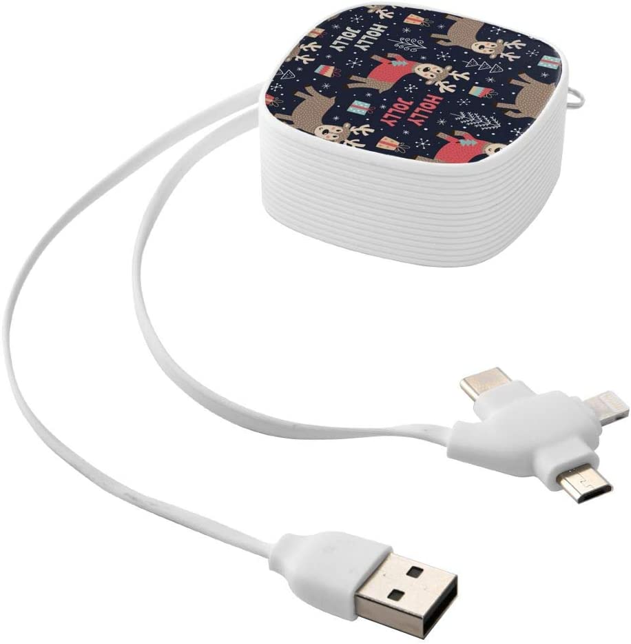 Deerthe Square Three-in-One USB Cable is A Universal Interface Charging Cable Suitable for Various Mobile Phones and Tablets