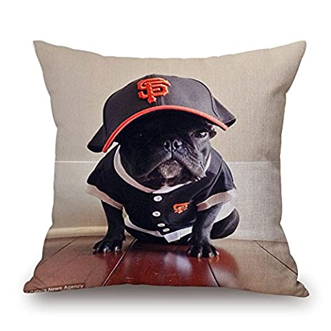 Slimmingpiggy Dog Pillow Covers 20 X 20 Inches / 50 By 50 Cm Gift Or Decor For Boys,festival,dinning Room,car,birthday,bench - Both (Chiefs And Royals Pennant Shirt)