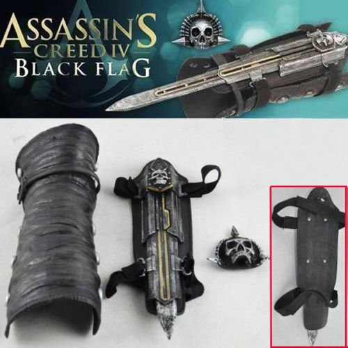 [Assassin-039-s-Creed-4-Black-Flag-Pirate-Cosplay-Hidden-Blade-Edward-Kenway-Gauntlet] (Assassins Creed Iv 4 Black Flag Edward Kenway Cosplay Costume)