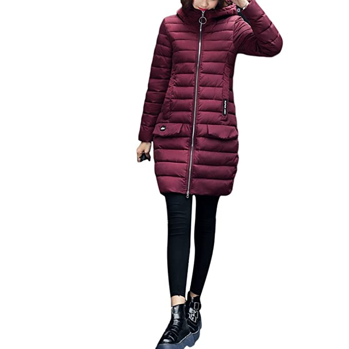 Zhuhaitf Comodos Abrigos de Mujer Womens Ladies Jacket Coats Hooded Thin Down Cotton Dress with Hooded Comfortable Warm Winter: Amazon.es: Ropa y accesorios