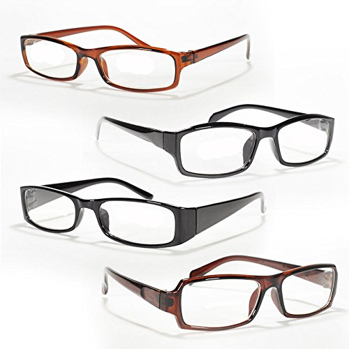 { You Will Get 24 Pairs of Strength +1.25 Plastic Frame With 3 Unique Styles in just as in picture } Men Women Unisex Black & Brown Plastic Frame Optical - Wholesale Ray Bans