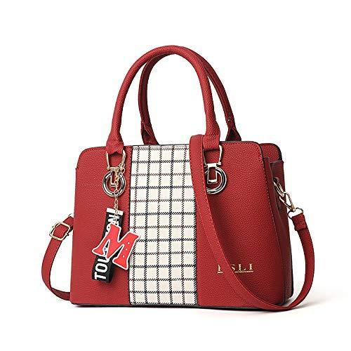 zwart 31x13x22cm dames Hydyi Tote Lady voor Handtas rood schoudertas S74Ywqv