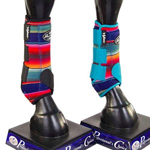 Professional's Choice Serape Equine Sports Medicine Ventech Elite Boot, Pair (Front Medium, Turquoise) by Professional's Choice (Image #2)