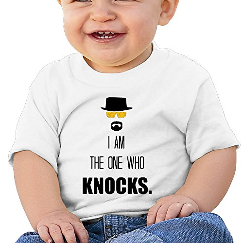 [DVPHQ Baby's I Am The One Who Knocks Tshirts Little Unisex White Size 12 Months (6-24 Months)] (Breaking Bad Jesse Costumes)