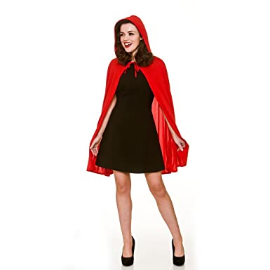 Adult Female Red Hooded Cape Fancy Dress  Amazon.co.uk  Clothing 2cd911c140b9