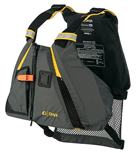 ONYX MoveVent Dynamic Paddle Sports Life Vest, X-Small/Small, Yellow - Onyx Shell Jacket