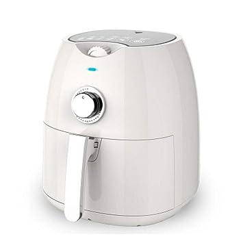 Máquina de papas fritas sartén de aire saludable freidora de gran capacidad olla automática sin cárter de aceite (Color : Blanco): Amazon.es: Hogar