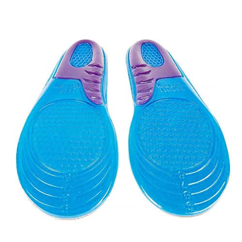 MAN Size Sports Massaging Silicone Gel Insoles Arch Support Orthopedic Plantar Fasciitis Running Insole for Shoes (Women (6-9) 27.6cm) euR5JkhpJ