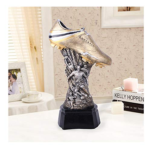 Football Shoes Trophy Champions League Trophy Resin Crafts Electroplating Football Fans Souvenirs Engraving Version Creative World Trophy high 32cm Gold