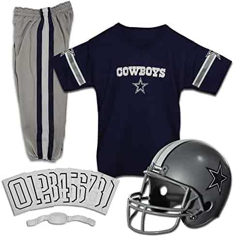 Franklin Sports NFL Kids Football Helmet and Jersey Set - NFL Youth Football Uniform Costume - Helmet, Jersey, Chinstrap - Youth M