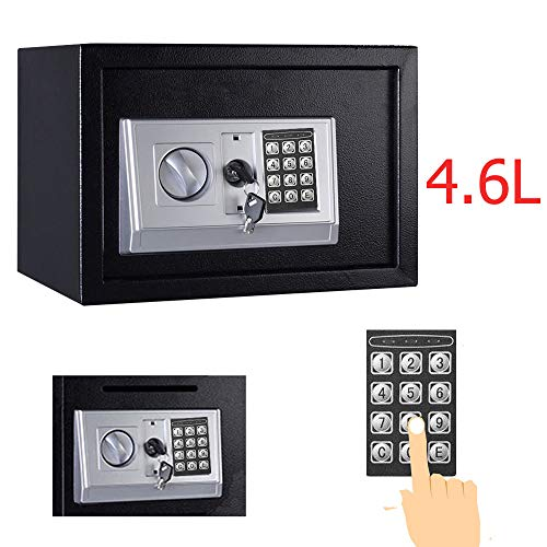 Yiyai Security Boxe Safe Box, Solid Steel Electronic Digital Box with Lock for Jewelry Cash Documents for Home School…