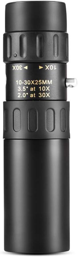 GKD 10-30X25 Zoom Monokular Qualit/äts-Teleskop-Binokel Taschen Binoculo Jagd Optisches Prisma Scope Kein Stativ