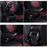 MVMTVT for Toyota Avanza 2019 armrest Box Universal car Center Console Modification Accessories Double Raised with USB
