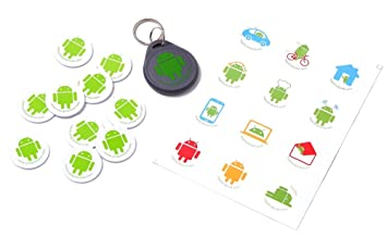 Amazon.com  TagsForDroid 10 NFC Tags + 1 NFC Key Chain + Stickers ... 35a84d96d