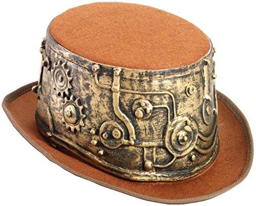 Forum Men's Deluxe Steampunk Top Hat, Multi, One - Accessories Sale Steampunk