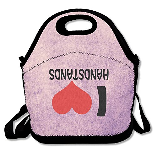 Black This Is My Handstand Funny Gymnastics Lunch Bags For Man And Woman (Gymnastics Lunch)