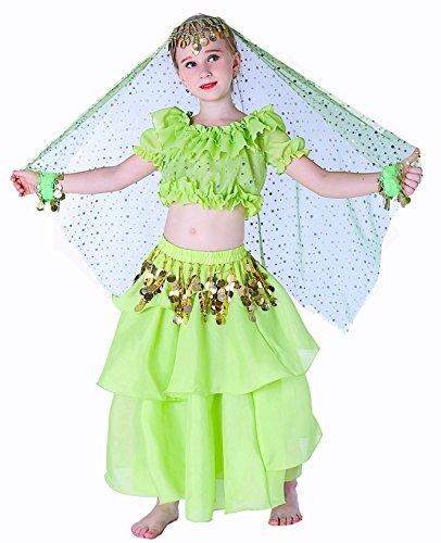 Kids Genie Costume Green 10 (Green Genie Costume)