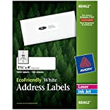 Avery EcoFriendly Address Labels, 1.33 x 4 Inches, White, Box of 1400 (48462)