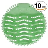 Urinal Screen & Deodorizer (10-pack) by Modern Industrial - Fits Most Top Urinal Brands at Restaurants, Offices, Schools, etc. (Green Mint)