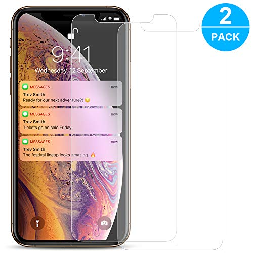 Screen Protector Compatible with iPhone Xs Max, Ama Forest 2 Pack Premium Tempered Glass Screen Protector Replacement for iPhone 6.5 Full Coverage 9 Hardness Anti-Scratch HD Clear Glass 2018 Release