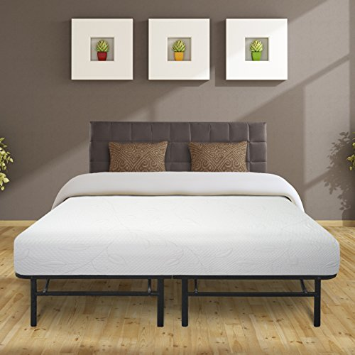 Best Price Mattress 8' Air Flow Memory Foam Mattress & 14' Premium Metal Bed Frame Set, Twin