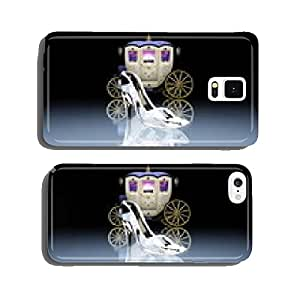 Horse-drawn carriage of pumpkin cell phone cover case Samsung S5