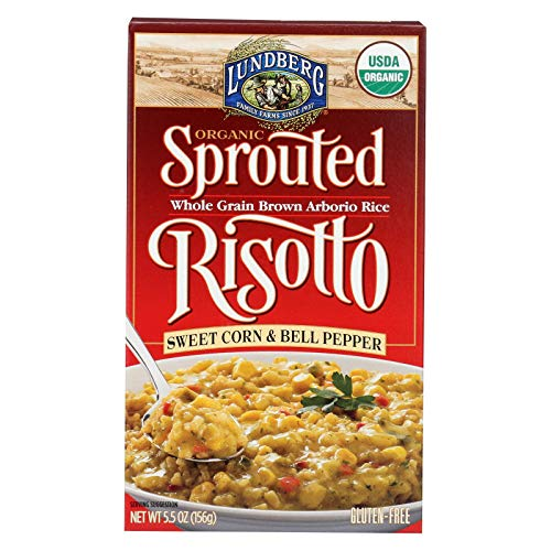 Lundberg Family Farms Organic Sprouted Risotto - Sweet Corn and Bell Pepper - Case of 6 - 5.5 oz.