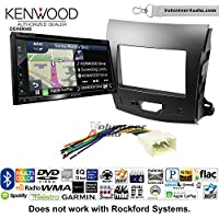 Volunteer Audio Kenwood Excelon DNX694S Double Din Radio Install Kit with GPS Navigation System Android Auto Apple CarPlay Fits 2007-2013 Mitsubishi Outlander