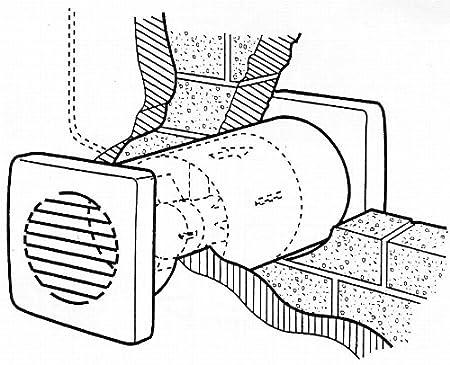Greenwood Airvac 125mm 5 Inline Extractor Fan 5 Inch Shower Kitchen