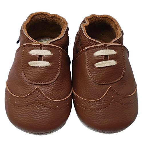 Baby Soft Leather Pram Shoes - 5