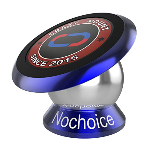 Nochoice Crazy Mount Magnetic Car Phone Holder 42mm Senior (Blue)
