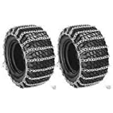 New PAIR 2 Link TIRE CHAINS 24x12-12 for John Deere Lawn Mower Tractor Rider ,,#id(theropshop; TRYK80271680536533